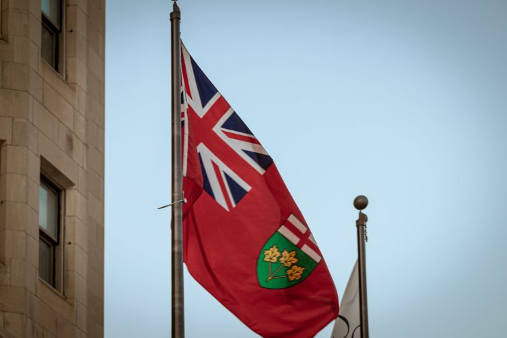 Flag of the province of Ontario