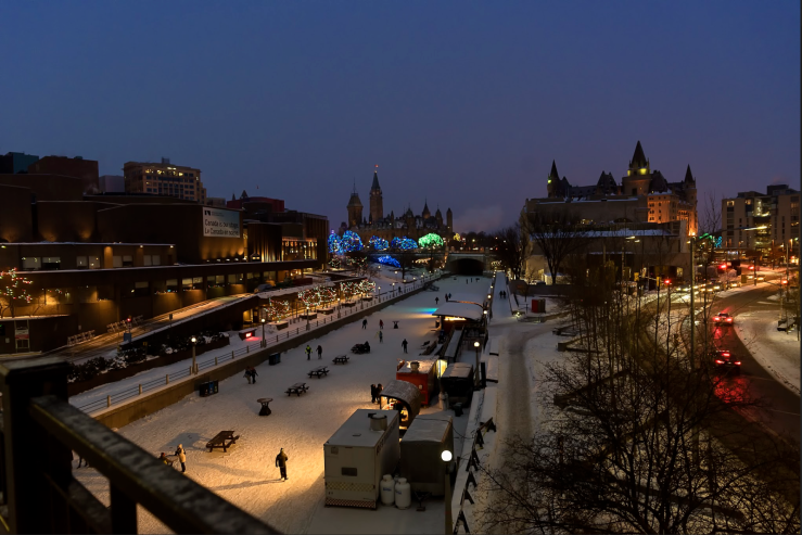 The Rideau Canal at night