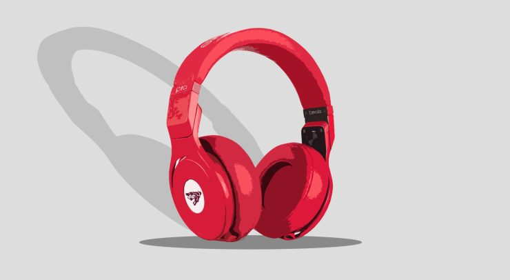 Graphic of headphones with the U of O Gee Gees logo