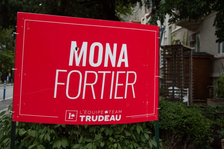 Mona Fortier sign