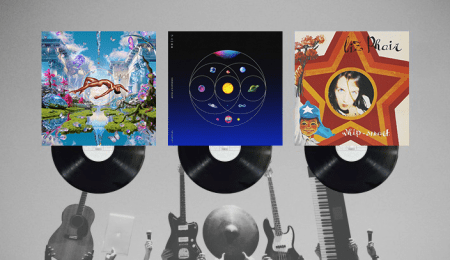 The vinyls of the featured artists