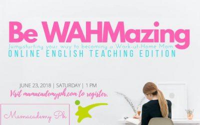 WAHM Series: Online English Teaching for WAHMs