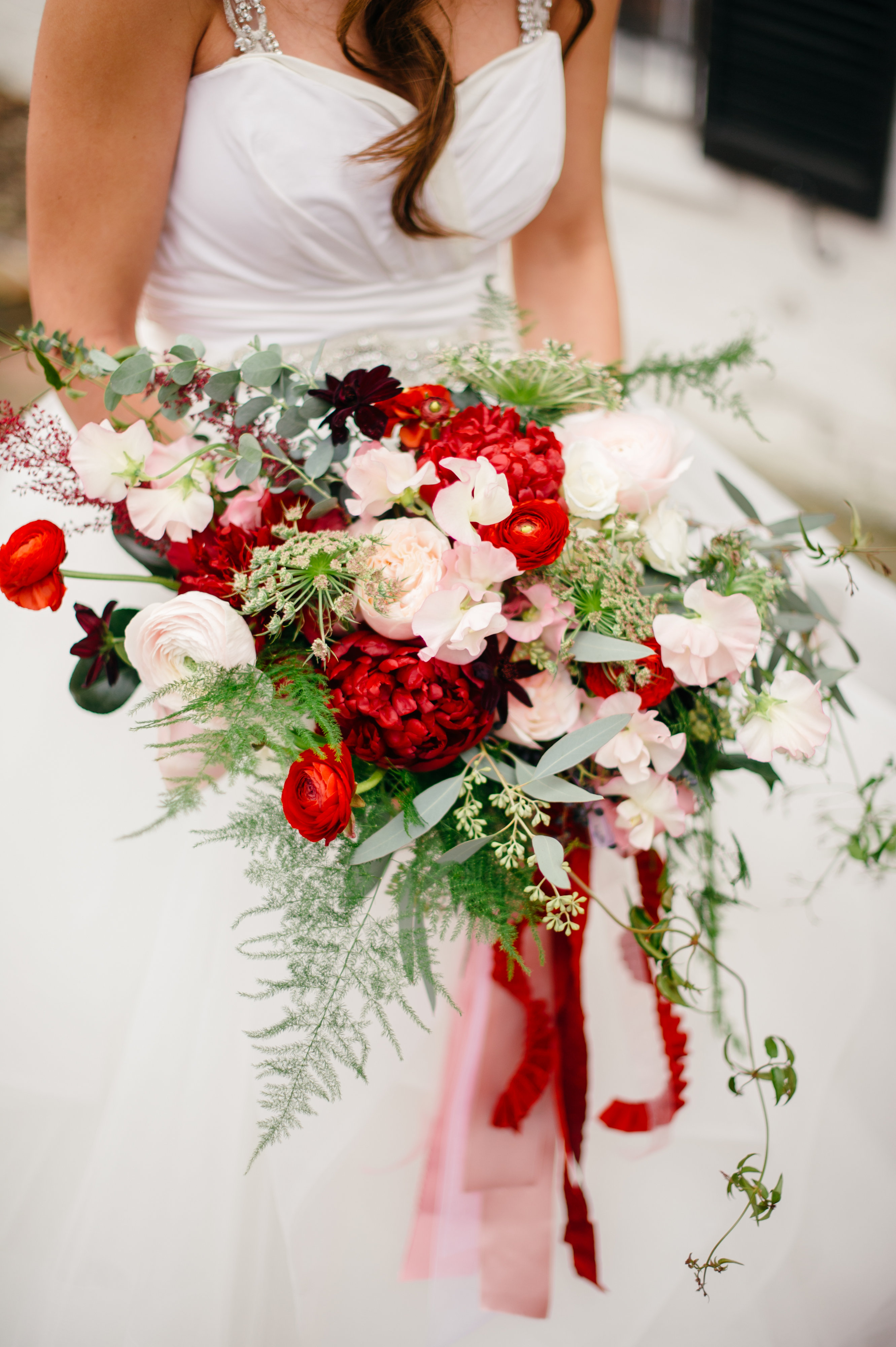 Red and Blush Wedding at Meridian House  Holly Chapple
