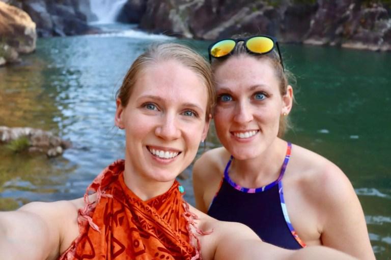 Gwen and Brooke at Big Rock Falls