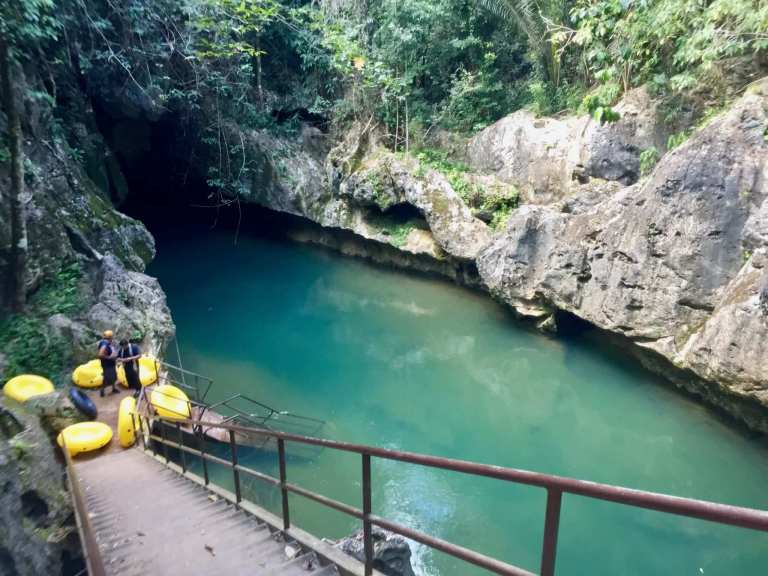 Cave Tubing Entry Point