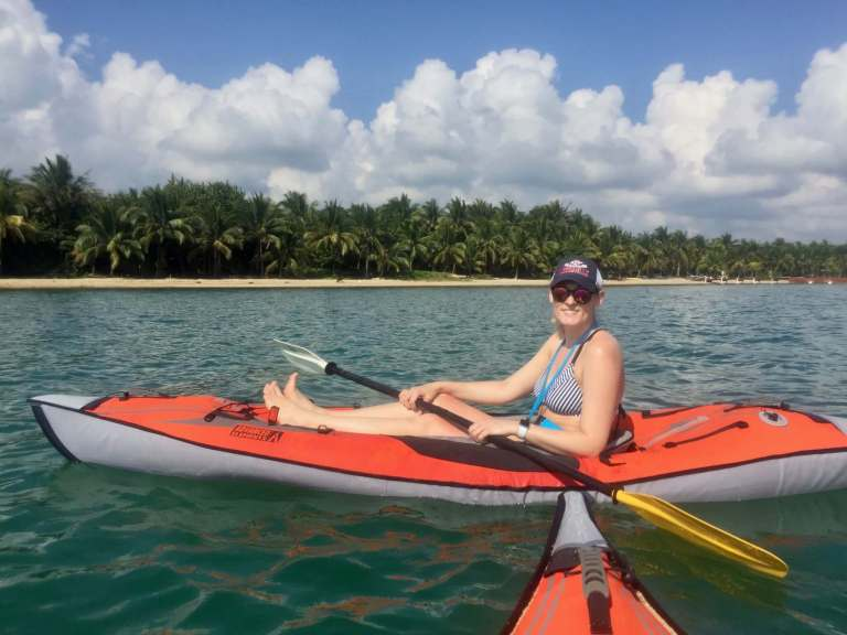 Brooke kayaking