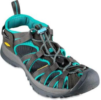 KEEN sandals in teal and gray