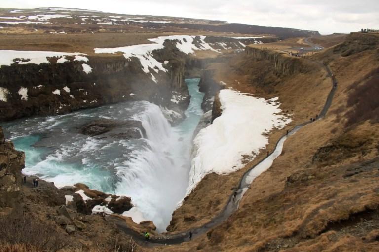 Icelandic waterfall Gullfoss