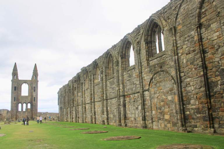 Ruins of St. Andrews Cathedral, including wall and towers