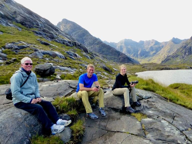 Taking a rest on Loch Coruisk