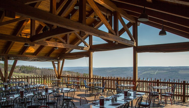 Restaurant at Bully Hill Vineyards, a great place to eat on your Finger Lakes weekend getaway