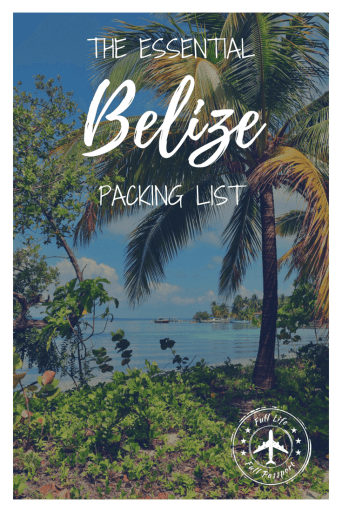 The best packing list for Belize! Be prepared for your trip to the jungle, Ambergris Caye, and all of the other amazing places Belize has to offer!