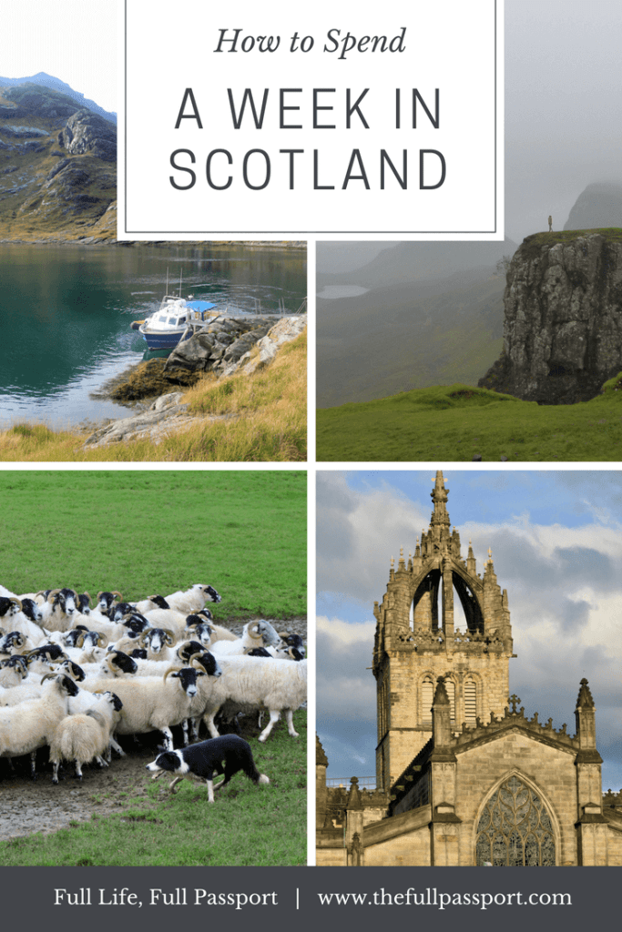 Scotland is a wonder! From historic Edinburgh to the beautiful Highlands, check out this great itinerary for one week in Scotland.