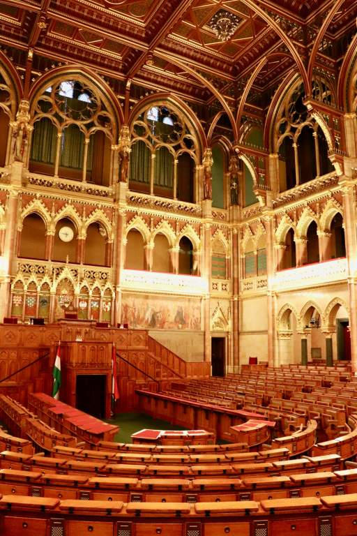 Assembly hall in Hungarian Parliament Building