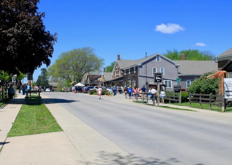 Quaint street in Amana