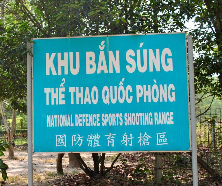 Sign for the shooting range