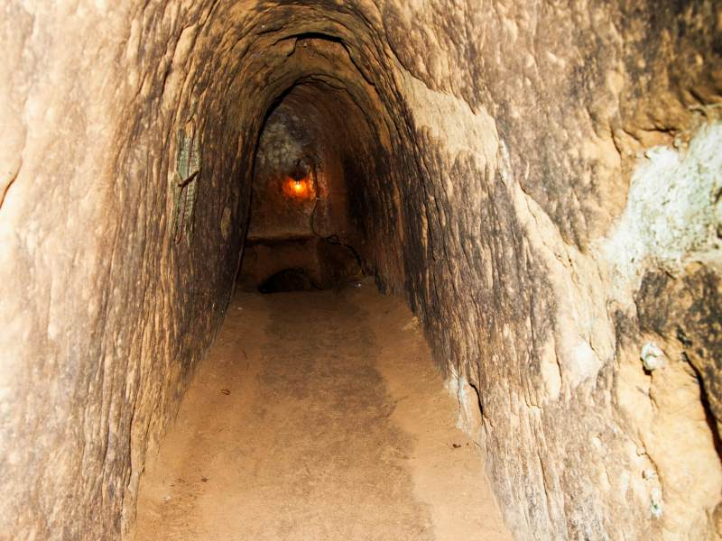 Inside the Cu Chi Tunnels
