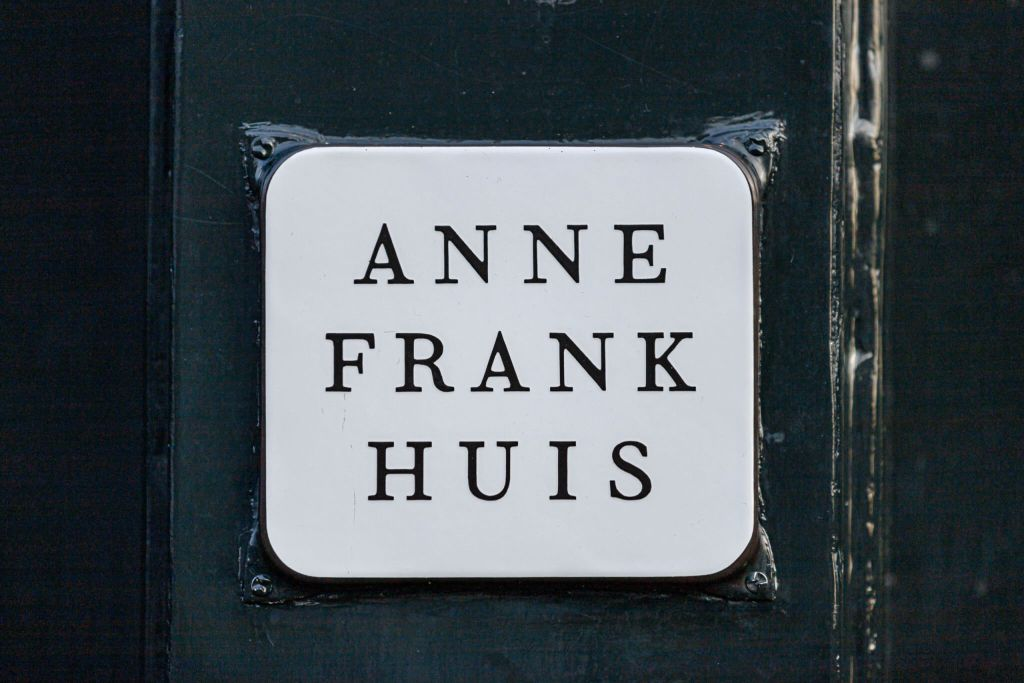Placard at Anne Frank House
