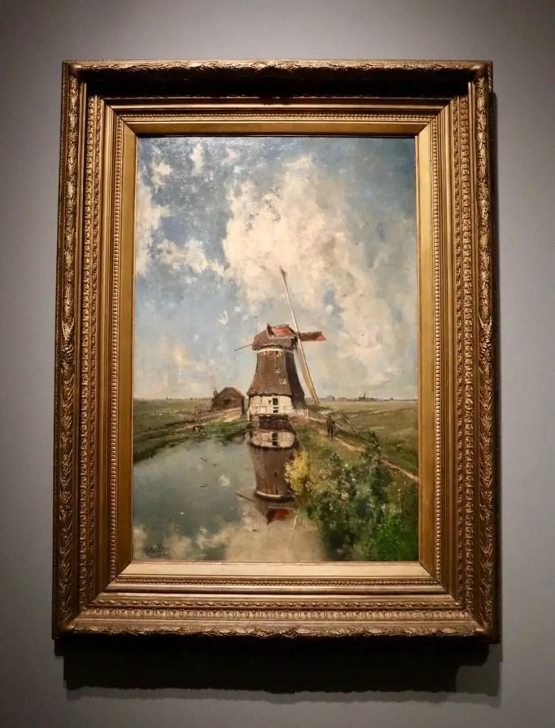 Windmill painting inside Rijksmuseum