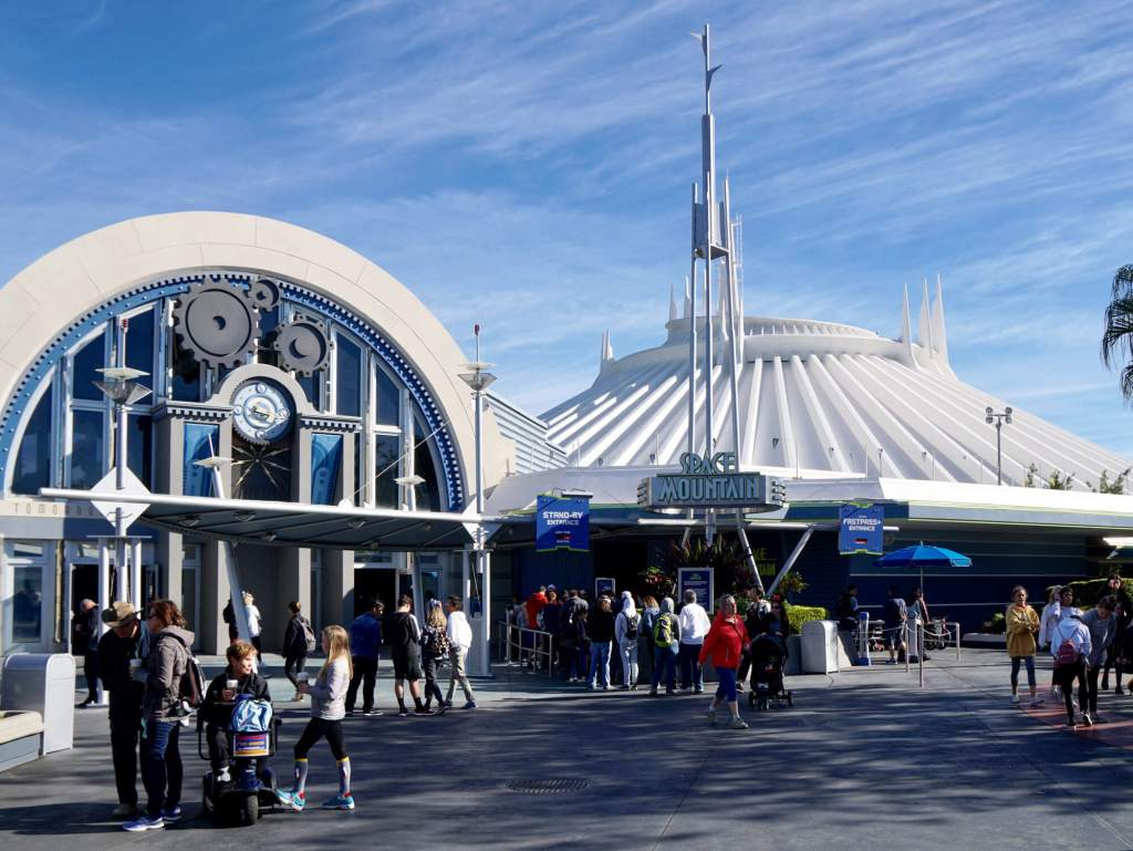 Exterior of Space Mountain