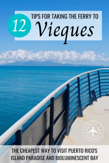 The ferry to Vieques is the cheapest way to reach the island, but it can be inconvenient and unreliable. Use these tips to make your crossing a breeze!