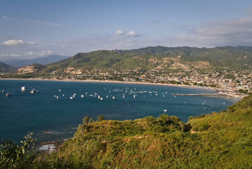 View of Puerto Lopez from a headland
