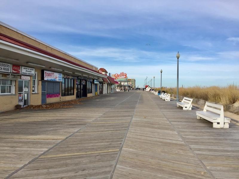 Empty boardwalk during the Rehoboth Beach off-season