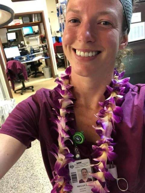Megan is a travel nurse who has worked in emergency rooms across the USA.