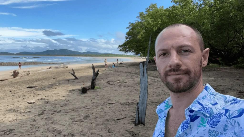 Max on a beach in Costa Rica