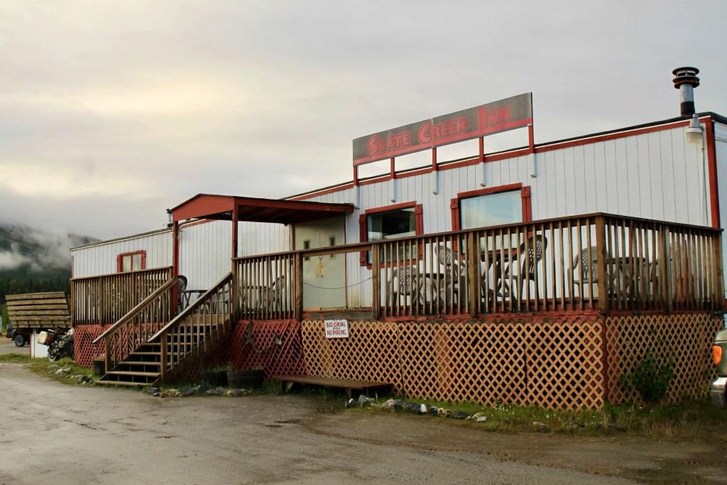 The Slate Creek Inn, which essentially looks like a giant trailer