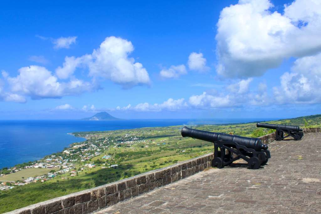 Cannons pointed out to sea at Brimstone Hill Fortress