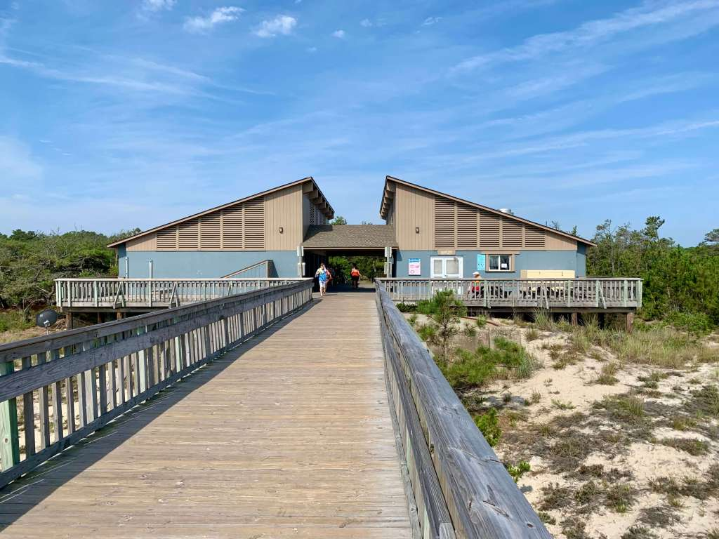 The bathhouse and snack bar at Cape Henlopen State Park