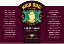 Hair of the Dog Cherry Adam From The Wood