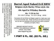Hoppin Frog Barrel Aged Naked Evil BBW • RateBeer