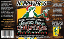 Hoppin Frog Barrel Aged Frosted frog Christmas Ale