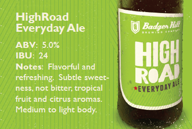 High Road Everyday Ale Sell Sheet