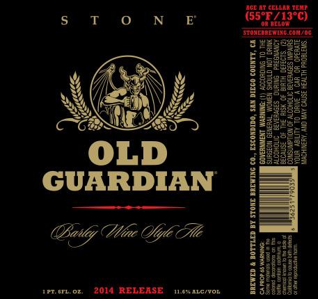 Stone Old Guardian Barley Wine 2014