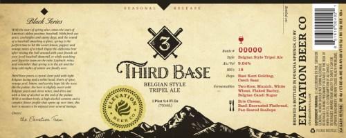 Elevation Beer Co. - 3rd Base 2014