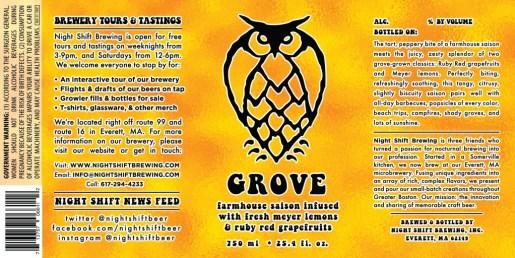 Night Shift Brewing - Grove