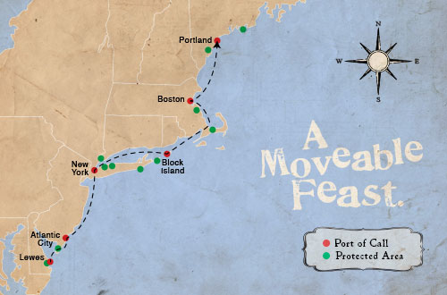 Dogfish Head - Moveable Feast Map