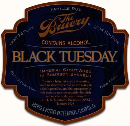 The Bruery Black Tuesday 2014