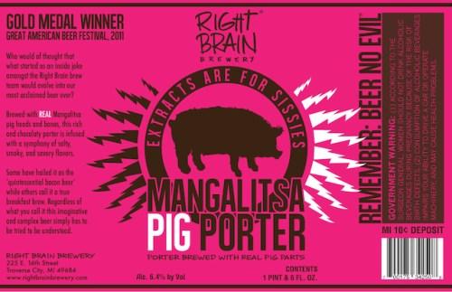 Right Brain Mangalista Pig Porter