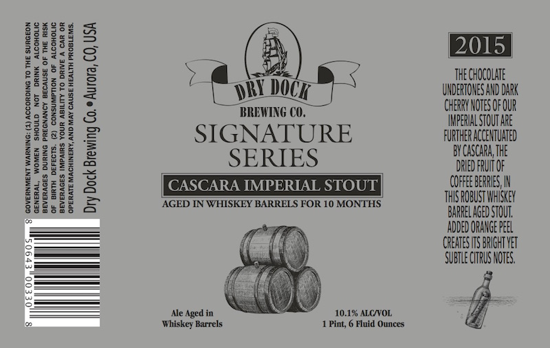 Dry Dock Cascara Imperial Stout