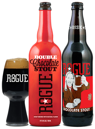 Rogue Chocolate and Double Chocolate Stout
