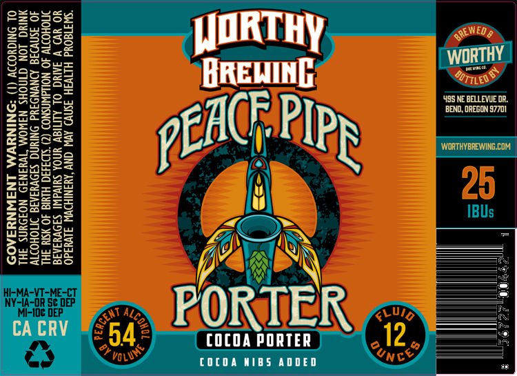 Worthy Brewing Peace Pipe Porter