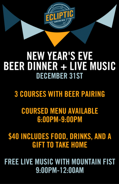 Ecliptic Brewing - NYE 2016