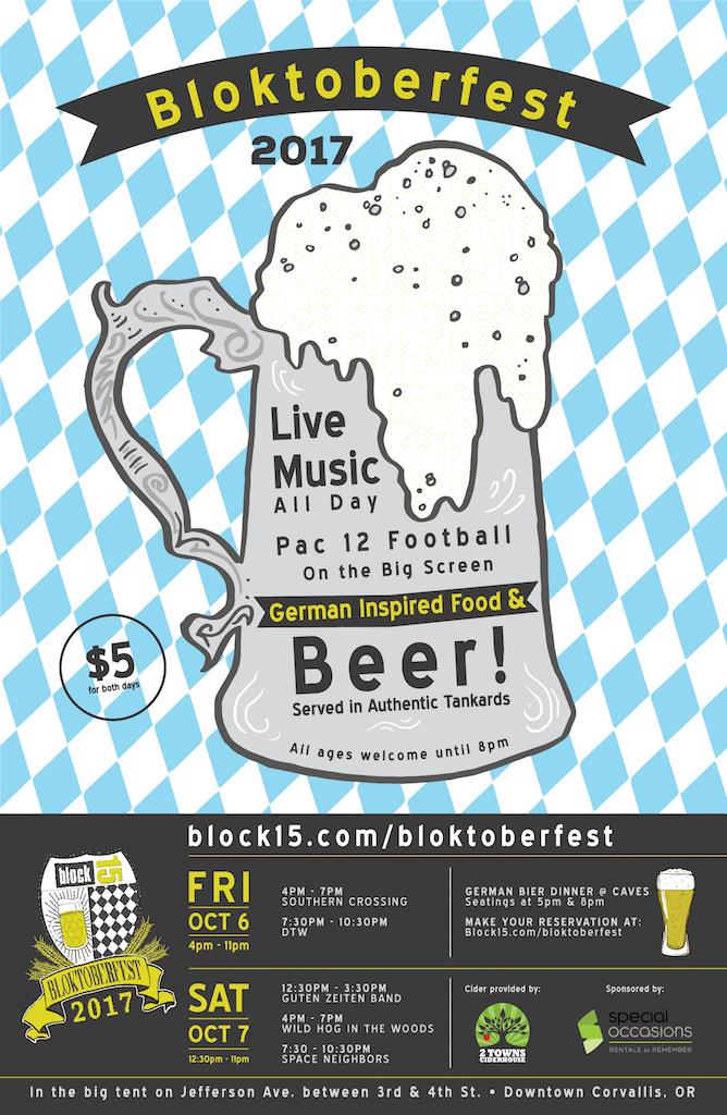 Block 15 Brewing - Bloktoberfest Poster 2017