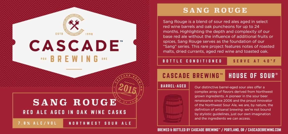 Cascade Brewing - Sang Rouge 2015