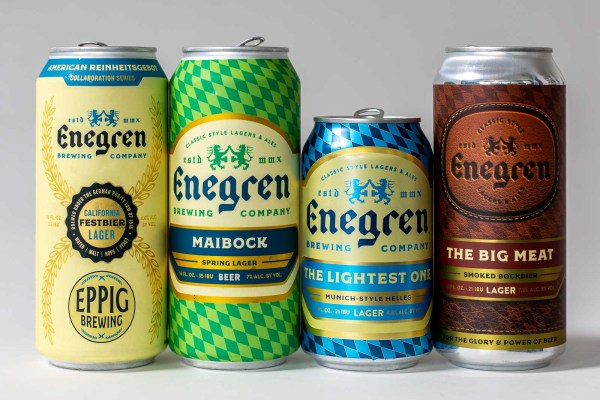 Pictured: Beers from Enegren Brewing Company in cans.