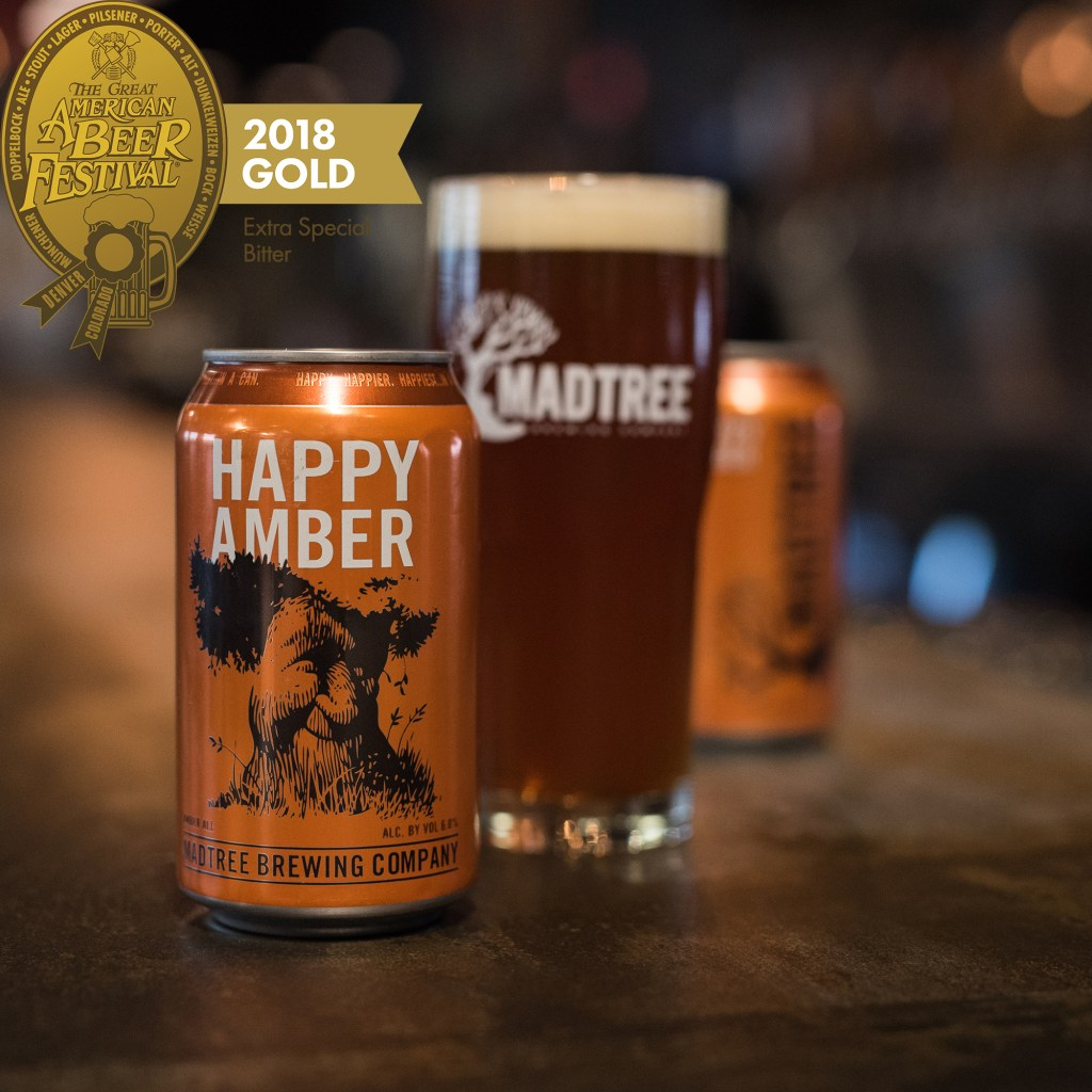 MadTree Brewing - Happy Amber - Gold Medal 2018
